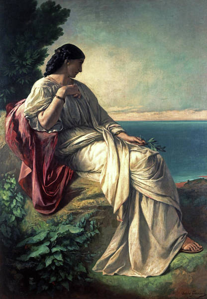 Crone Wall Art - Painting - Iphigenia by Anselm Feuerbachs