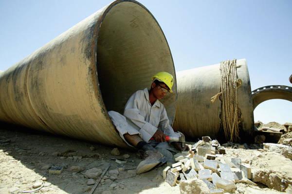 Photograph - Iraq Recontruction by Brent Stirton