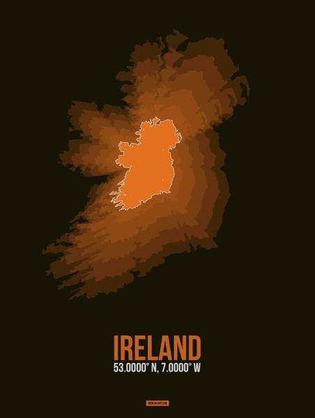 Wall Art - Digital Art - Ireland Radiant Map 3 by Naxart Studio