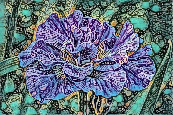 Mixed Media - Iris Abstract by Teresa Wilson