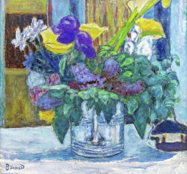 Wall Art - Painting - Iris And Lilac - Digital Remastered Edition by Pierre Bonnard