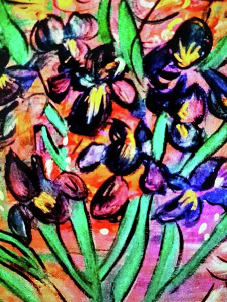 Painting - Iris Party by Nikki Dalton