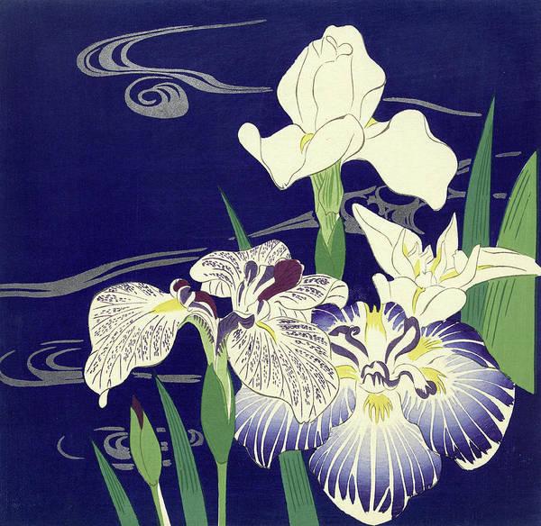 Wall Art - Painting - Irises by Tsukioka Kogyo
