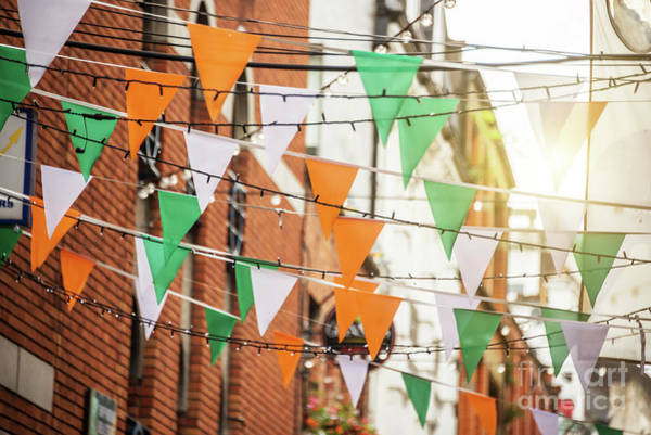 Wall Art - Photograph - Irish Flags Garlands by Delphimages Photo Creations