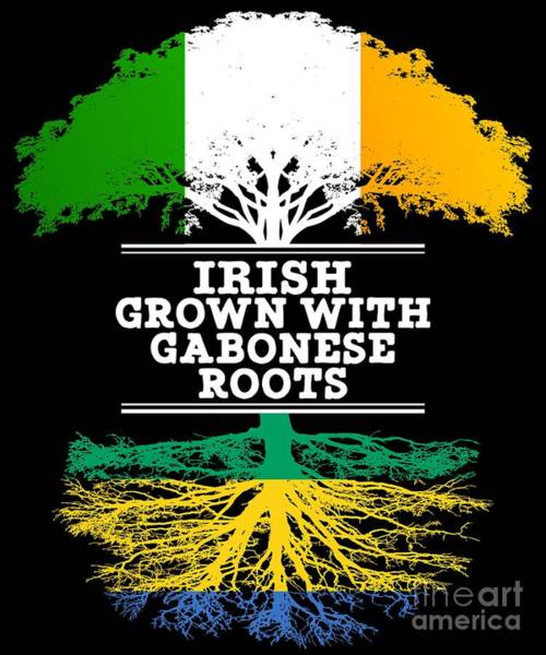 Gabonese Digital Art - Irish Grown With Gabonese Roots by Jose O