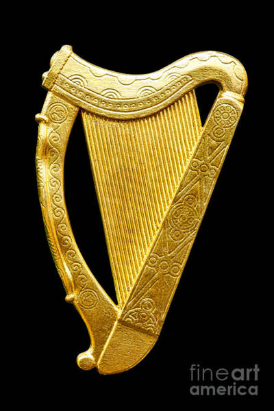 Gaelic Photograph - Irish Harp by Olivier Le Queinec