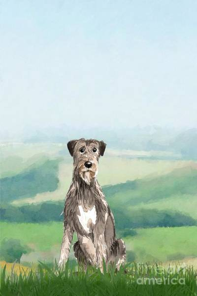 Furry Digital Art - Irish Wolfhound by John Edwards
