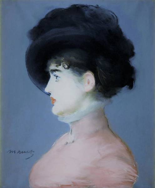 Wall Art - Painting - Irma Brunner - Original Bluecolor Edition by Edouard Manet