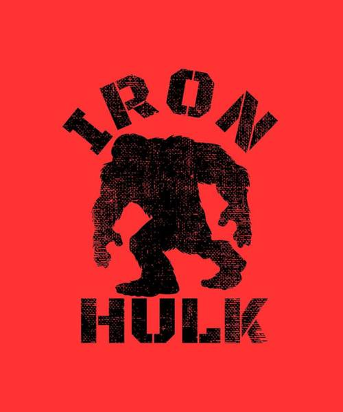 Powerlifting Digital Art - Iron Hulk by Chuck Basford