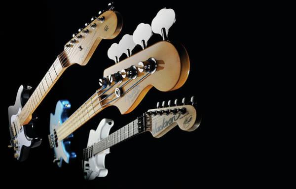 Iron Maiden Wall Art - Photograph - Iron Maiden Signature Electric Guitars by Guitarist Magazine
