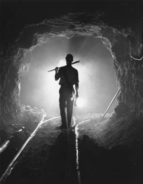 Miners Photograph - Iron Miner by Charles Hewitt