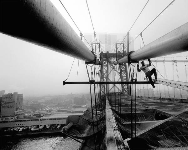 Williamsburg Photograph - Iron Workers Local 361 Work On by New York Daily News Archive