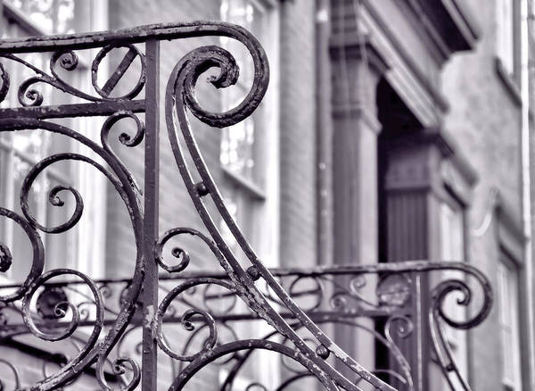 Photograph - Iron Wrought Railing by JAMART Photography