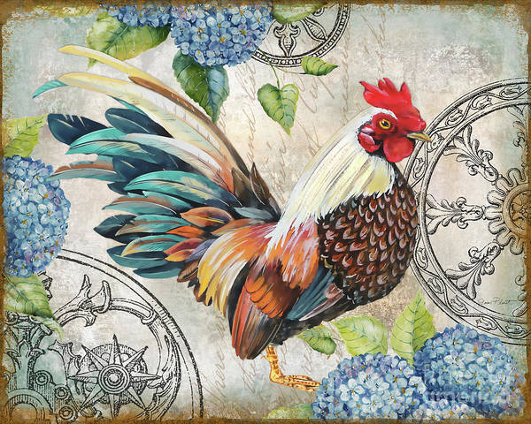 Wall Art - Painting - Ironwork Rooster C by Jean Plout