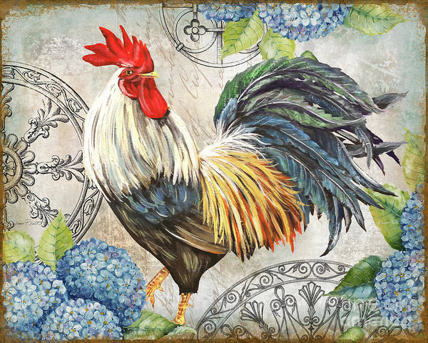Wall Art - Painting - Ironwork Rooster Cd by Jean Plout