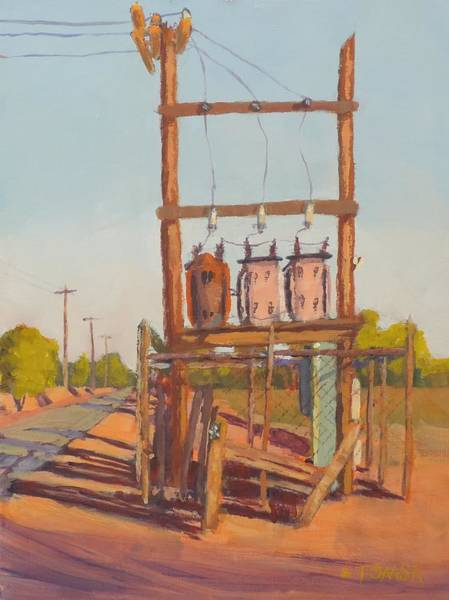 Transformer Painting - Irrigation Electrification by Bill Tomsa