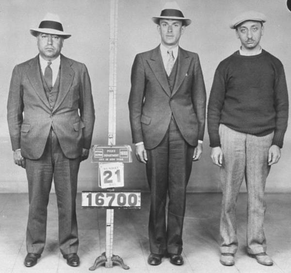 Mug Photograph - Irving Wexler Waxey Gordon, Harry Kline by New York Daily News Archive