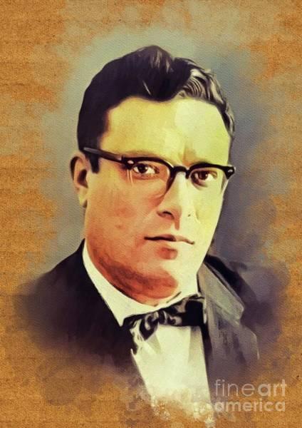 Wall Art - Painting - Isaac Asimov, Literary Legend by John Springfield