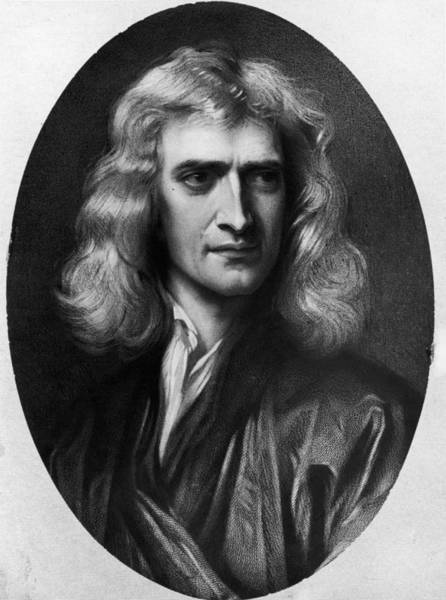 Philosopher Digital Art - Isaac Newton by Hulton Archive