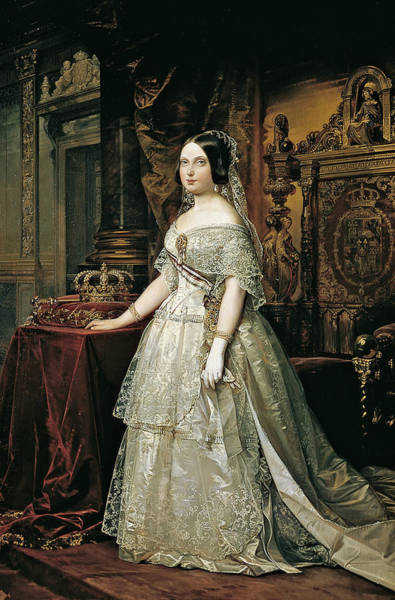 Painting - Isabel II De Espana by Federico de Madrazo