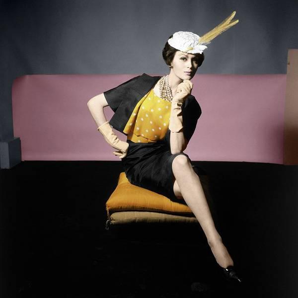 Wall Art - Photograph - Isabella Albonico Wearing Adele Simpson by Horst P. Horst