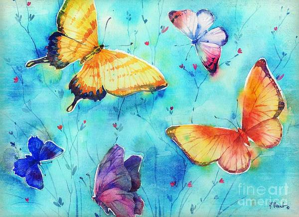 Wall Art - Painting - Isabella Butterflies Horizontal by Paul Brent