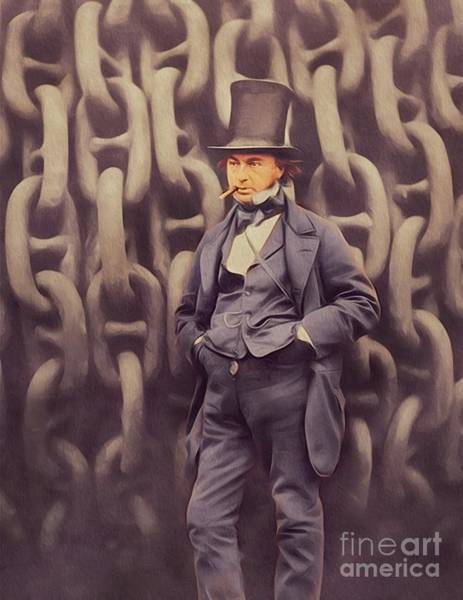 Isambard Digital Art - Isambard Kingdom Brunel, Genius by John Springfield