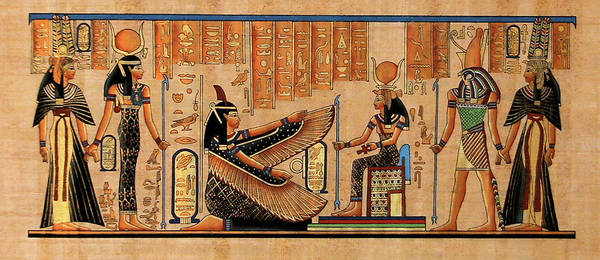 Painting - Isis And Amun by Anonymous