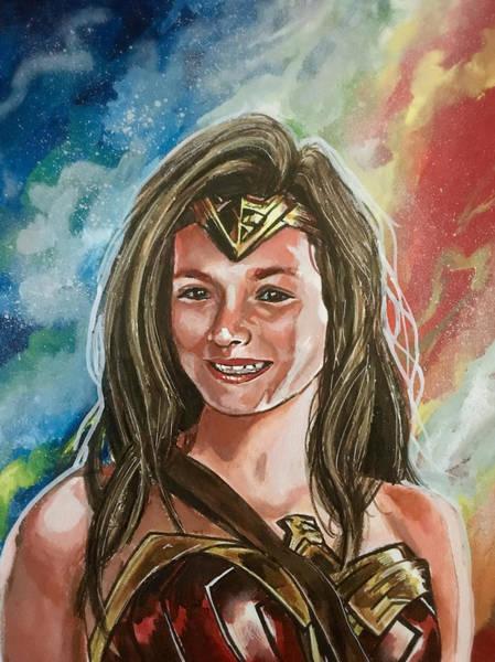 Painting - Isla Wonder Woman by Joel Tesch
