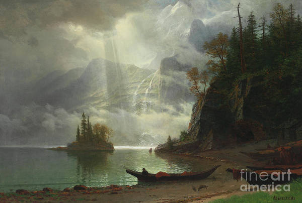 Painting - Island In The Lake by Albert Bierstadt