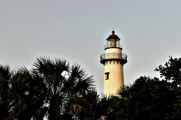 Photograph - Island Lighthouse At Sunset by Kathy K McClellan