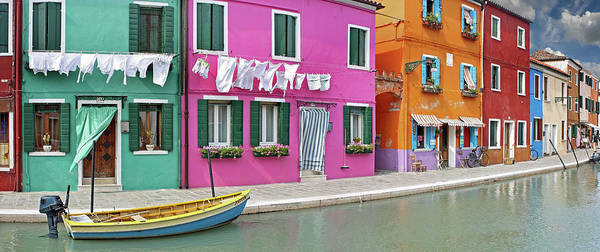 Motorboat Photograph - Island Of Burano by Images Etc Ltd