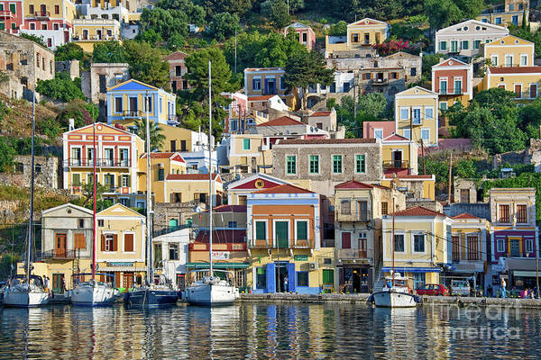 Dodecanese Photograph - Island Of Symi, Greece by Delphimages Photo Creations