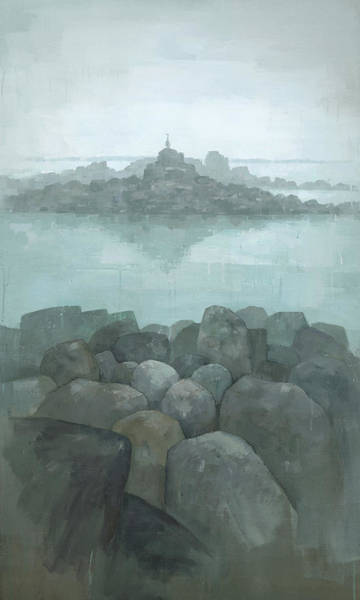 Moody Painting - Island Queen by Steve Mitchell