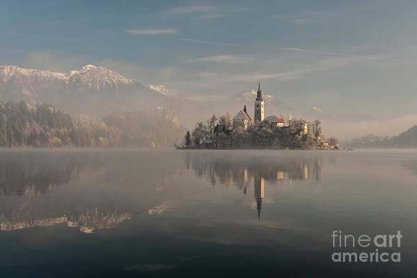 Wall Art - Photograph - Island Reflecting In Lake, Lake Bled by Bor Rojnik