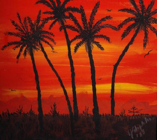 Painting - Island Sunset by Joan Stratton