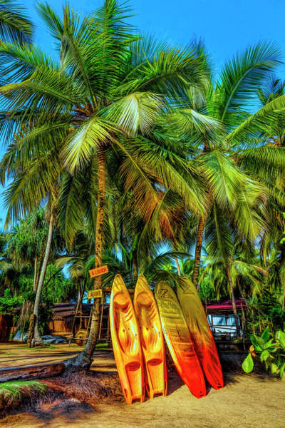Photograph - Island Surf Mood In Hdr Detail by Debra and Dave Vanderlaan