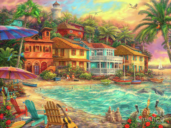 Caribbean Wall Art - Painting - Island Time by Chuck Pinson