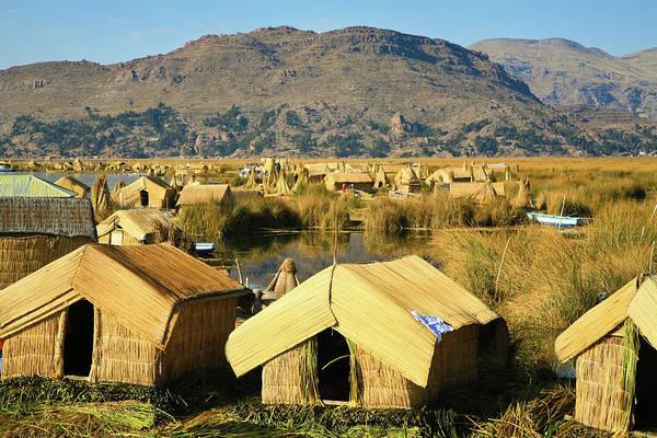 Puno Photograph - Islas Flotantes by Andras Jancsik