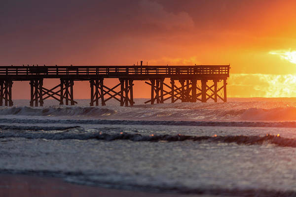Photograph - Isle Of Palms Pier Fusion Of Light by Donnie Whitaker