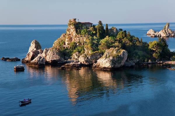 Isola Wall Art - Photograph - Isola Bella Island, Taormina, Sicily by Peter Adams