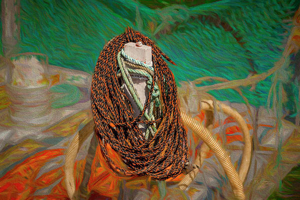 Digital Art - Isolated Rope by Bill Posner