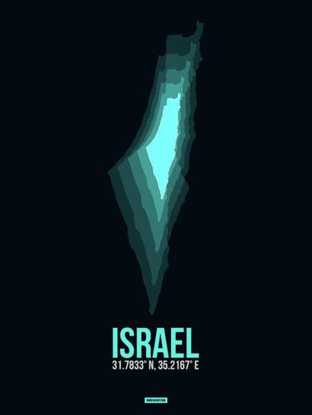 Wall Art - Digital Art - Israel Radiant Map 1 by Naxart Studio