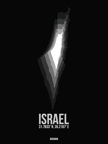Wall Art - Digital Art - Israel Radiant Map 3 by Naxart Studio