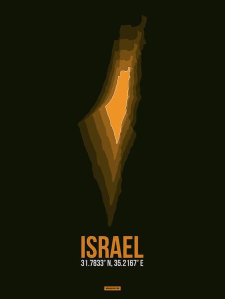 Wall Art - Digital Art - Israel Radiant Map 4 by Naxart Studio