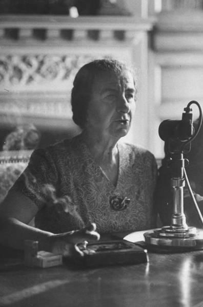 Photograph - Israeli Foreign Minister Golda Meir by Loomis Dean