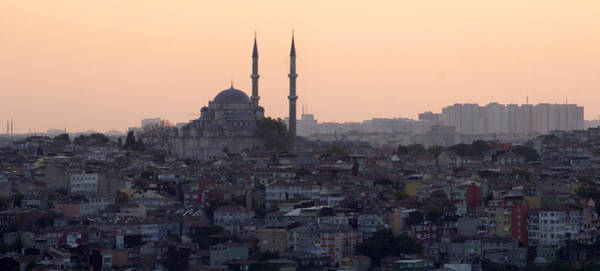 Mosque Photograph - Istanbul Cityscape At Sunset by Terje Langeland