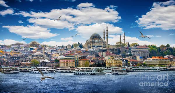 Islam Wall Art - Photograph - Istanbul The Capital Of Turkey, Eastern by Seqoya