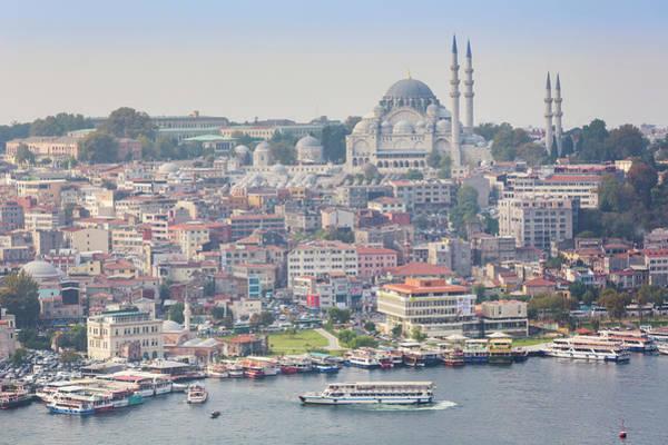 Suleymaniye Mosque Photograph - Istanbul, Turkey. Golden Horn & by Ken Welsh