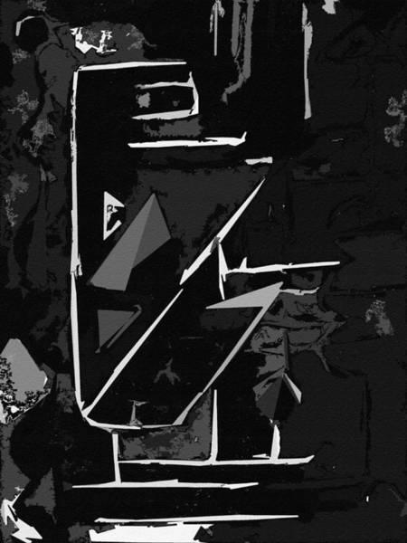 Digital Art - It Cuts Black by Luke Mitchell